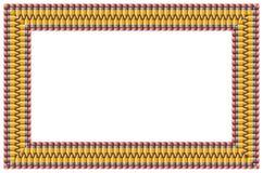 铅笔框架 免版税库存照片