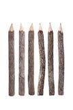 铅笔由棍子制成 免版税图库摄影