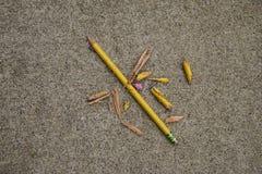 铅笔的总破坏 免版税库存照片