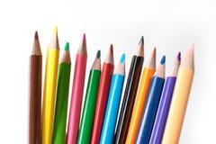 铅笔的Foto 画的铅笔 文教用品 办公室的主题 免版税库存照片
