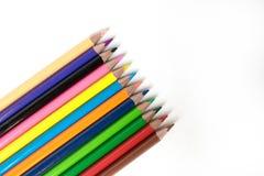 铅笔的Foto 画的铅笔 文教用品 办公室的主题 免版税库存图片