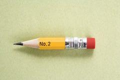铅笔短小 库存图片