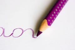 铅笔紫色 免版税库存照片