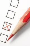 铅笔红色调查x 免版税库存照片