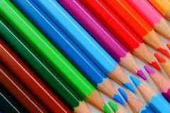 铅笔蜡笔 免版税图库摄影
