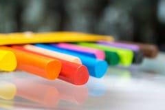 铅笔蜡笔vax集合 免版税库存照片