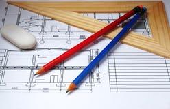 铅笔计划 库存图片