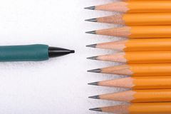 铅笔隔离 库存图片
