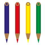 铅笔颜色传染媒介 向量例证