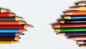 铅笔颜色艺术 免版税库存图片