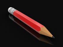 铅笔(包括的裁减路线) 库存照片