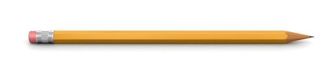 铅笔(包括的裁减路线) 免版税库存照片
