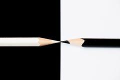铅笔-黑白照片 库存照片