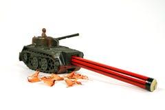 铅笔sharpner谢尔曼坦克 库存照片