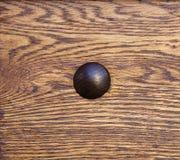 铆钉木头 免版税库存图片