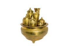 黄铜厨具 免版税库存照片