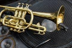 黄铜和低音 免版税库存图片