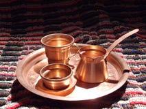 铜咖啡罐 库存照片
