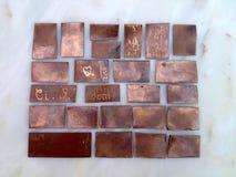 铜小块 免版税库存照片