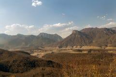 铜峡谷山在墨西哥 库存照片