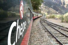 铜峡谷火车,在墨西哥 免版税图库摄影