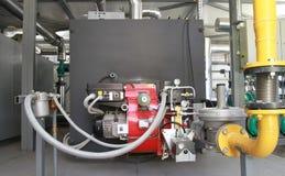 铜工作在气体和光油 免版税库存照片