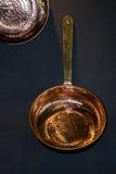 铜平底锅 图库摄影