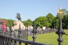 铜御马者 对沙皇彼得的一座纪念碑我 圣彼德堡 免版税库存照片