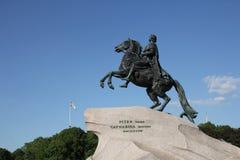 铜御马者 对沙皇彼得的一座纪念碑我 圣彼德堡 免版税库存图片