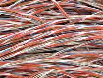 铜扭转的电汇 库存图片