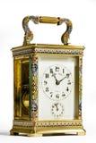 黄铜支架时钟 库存图片