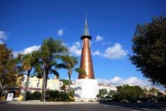 铜方尖碑,马尔韦利亚,西班牙 免版税库存图片
