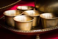 黄铜杯子 库存照片
