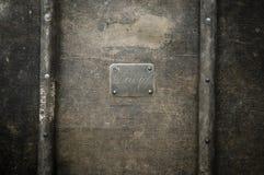 铜构成的名字板极 库存图片