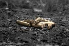 黄铜枪壳 免版税库存照片