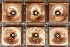 铜灯具 免版税库存照片