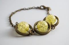 铜珠宝镯子 库存图片