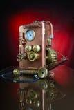 铜电话。 库存照片