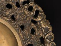 黄铜盘子细节 图库摄影