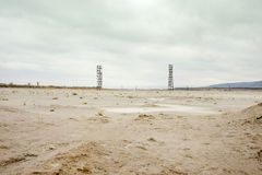 铜矿化学制品废物池塘 干燥气候灾害自然泰国 图库摄影