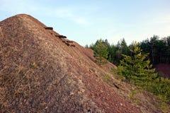 铜矿在一个森林里在波兰 免版税库存图片