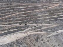 铜矿在智利 库存照片