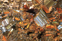 黄铜矿背景 库存照片