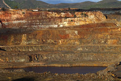 铜矿露天开采矿 免版税库存照片