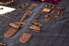 铜种族首饰发夹,扣,别针 图库摄影