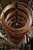 铜管子工厂 免版税库存照片