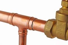 铜管道工程管组 免版税图库摄影