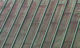铜绿色屋顶 库存照片