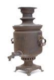 铜老俄国式茶炊 免版税库存图片