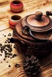 铜老茶壶 免版税库存照片
